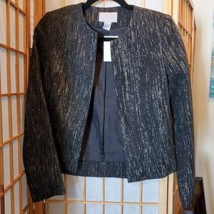 H&M black/silver blazer NEW